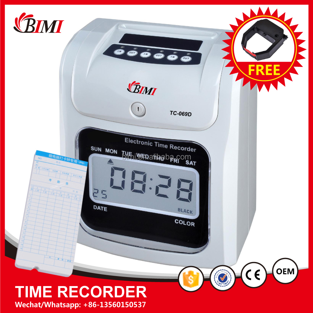Digital time recorder / time clocks/ hand punch time cards machine