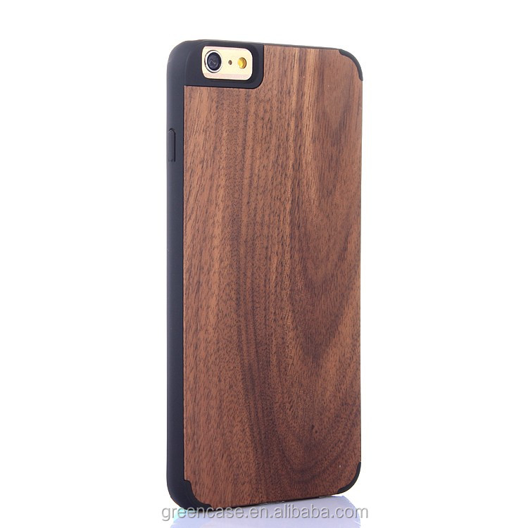Wooden/Bamboo+PC Quadrate Camera Cell Phone Case for Iphone6/6s plus