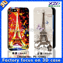 flip cover case for iphone 5 with 3d image,wallet leather case for huawei ascend g7