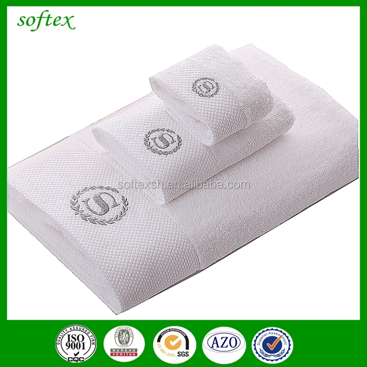 China supply 100% cotton plain gift 3pcs terry towels bath luxury logo