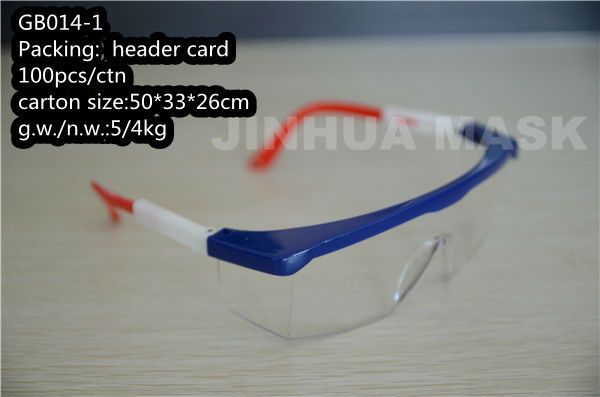 CE EN166 safety goggles in 3 color