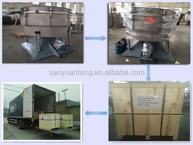 Ultrasonic tumbler screen Fish meal feed swing sieve machine manufacturer