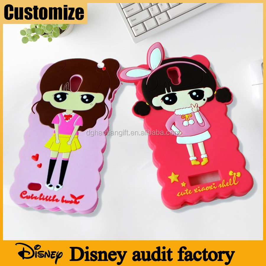 Disney audit factory Custom lovely girs silicone 3d phone case