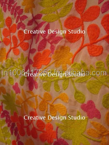 Embroidery fabric Dyeable Georgette fabric