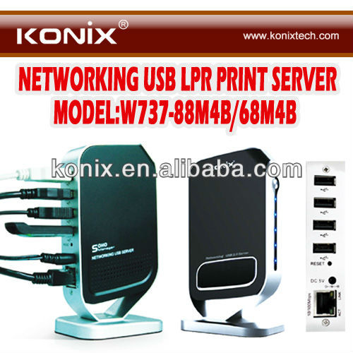 4 port usb wifi server network usb 2.0 server