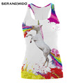 Rainbow Horse Women Sports Tank Top