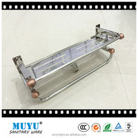 stainless steel mirror towel rack