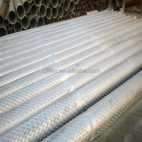 large diameter stainless steel slotted pipe size screens water filter pipe