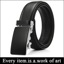 Fashion black buckle Italian leather belts