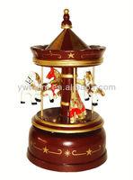 carousel horse music box with jingle bells music