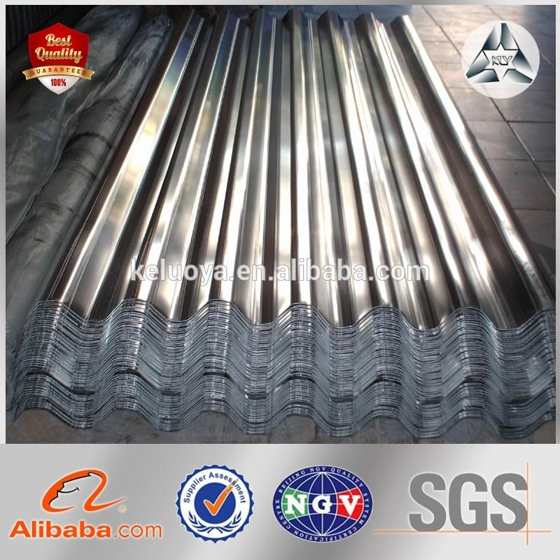 zinc coating and galvalume corrugated stainless steel sheet metal for roof construction