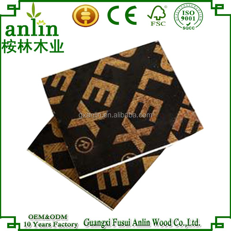 black color plywood with melamine film faced