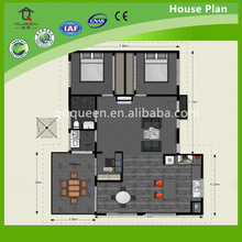 2 bedroom Structural Steel Frame house 2D floor plans