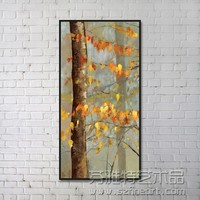 modern canvas fabric handmade abstract leaf oil painting for sale