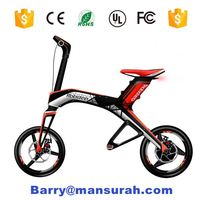 new products 2016 magnalium alloy lithium battery powered ebike brushless hub motor chainless mini folding electric bike kit