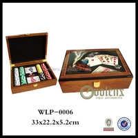 2014 hot sale wooden game box / Poker&dices game / wooden game set