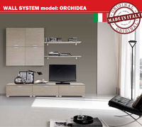 MADE IN ITALY Living Room Cabinet - Wall System easy to Install High Class Fashion Style