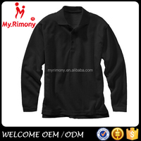 Blank customized plain long sleeve polo polyester t shirt