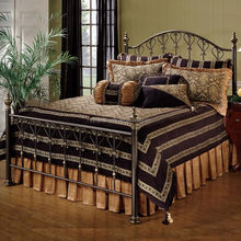 New style sleeping king size wrought iron bed design
