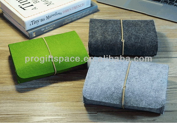 2017 new design hot sale fashion handmade non woven custom notebook cover/office book cover felt wholesale stationery from China