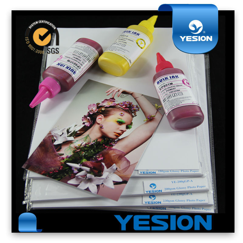 Super Premium High glossy inkjet waterproof 350gsm A4 photo paper