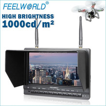 FEELWORLD 7inch built in battery 1000cd/m2 high brightness fpv monitor cx-20 vs walkera qr x350 dji phantom drone gps quadcopter