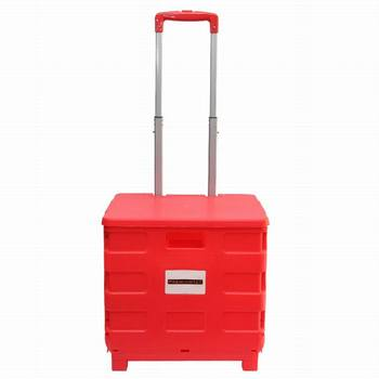 Folding Hand Cart Trolley Carry Shopping Storage Office Rolling Case