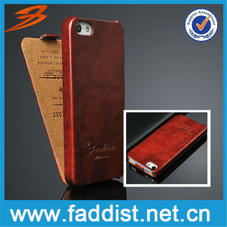 wholesale alibaba Hot sale PU flip leather case for apple iphone 5s