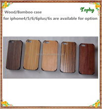 4 corners PC covered wooden phone case, wood skin cover for iphone 5s 6 case,for iphone 6 plus wooden back case