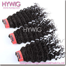high quality factory price Peruvian deep curly hair weft