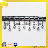 Curtain Decoration and Home Textile Heart Beads Trims Pompom Tassel