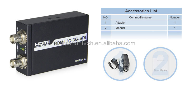 HDMI to 3G-SDI Converter with SRC function