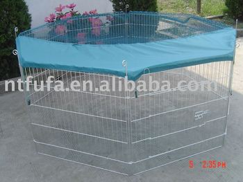 Zinc Coating Animal Playpen With Net