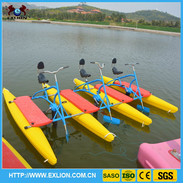 best seller water park equipment paddle boats water paddle bikes for sale