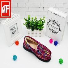 Colorful knit highquality beautiful american ladies shoes
