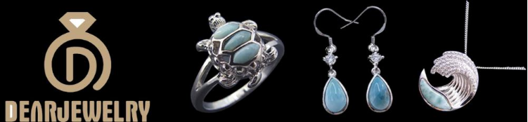 Retro Jewelry 925 Sterling Silver Natural Blue Larimar Stone Open Adjustable Ring