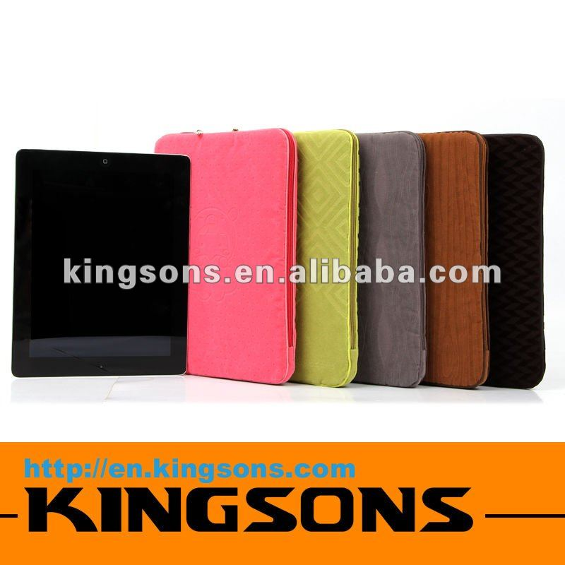 2012 TOP SALES designer case for ipad 3! Colorful Kingsons Brand Tablet PC sleeve