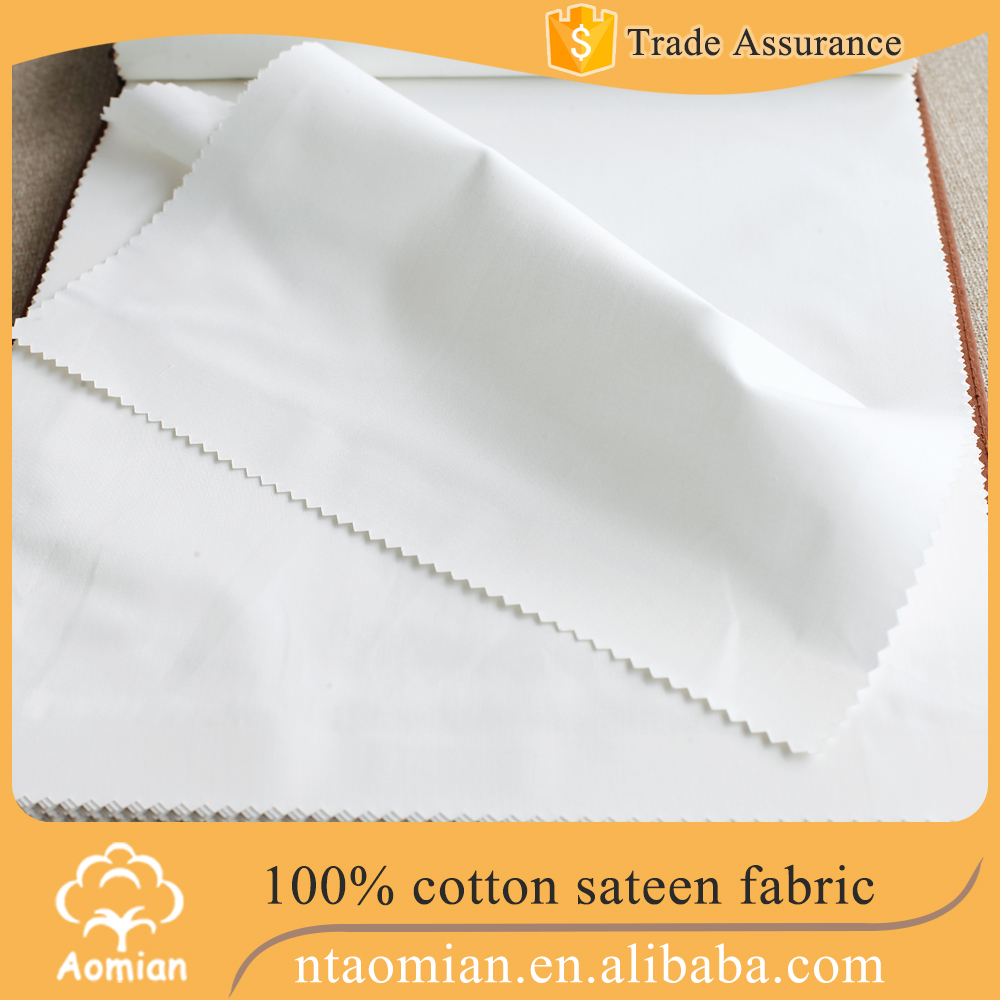 top grade extra wide 100% cotton sateen fabric for bedding