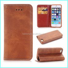 Factory price business style wallet leather cell phone case for iphone 6 7