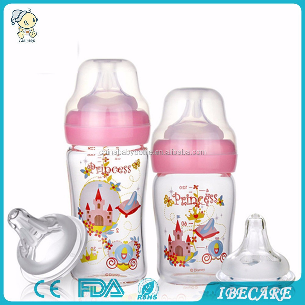 BPA FREE high borosilicate glass baby bottle, nose tweezers