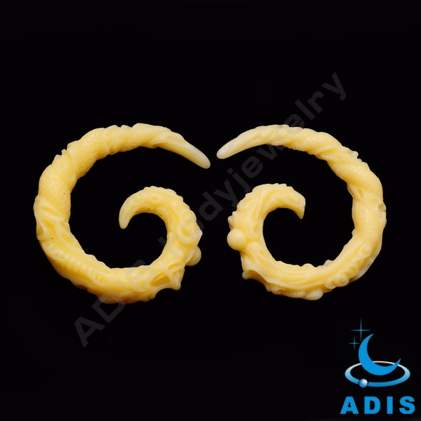 Wholesale acrylic ear spiral plugs jewelry black ear tunnels