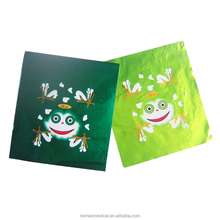 green and white plisse aluminum foil sheet for chocolate package