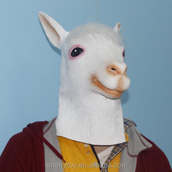 Ainmal Goat Halloween Mask Funny Full Head Goat Masken Cosplay Fancy Dress Eco-friendly Latex Animal Masks