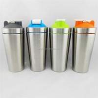 Food Grade Material Water Bottles Drinkware Type 304 Stainless Steel Material 750ml Protein Shaker Bottles