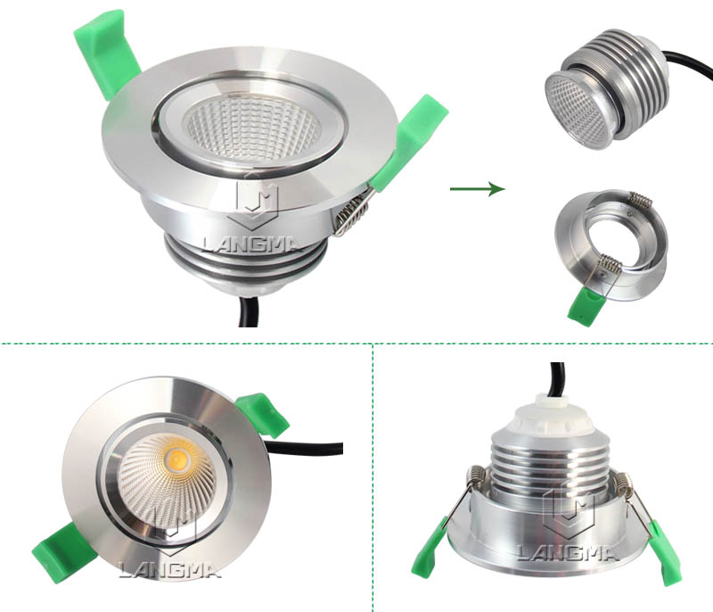 7W High Quality High Brightness Cob LED Downlight led down light slim