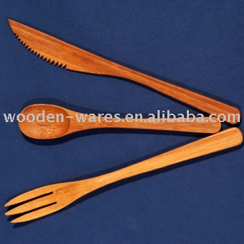 bamboo knives and forks,spoon