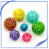 2014 Hot sale flat back lemon color bead treasure