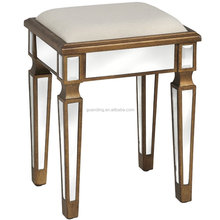 European luxury small wood sitting stool /make up stool