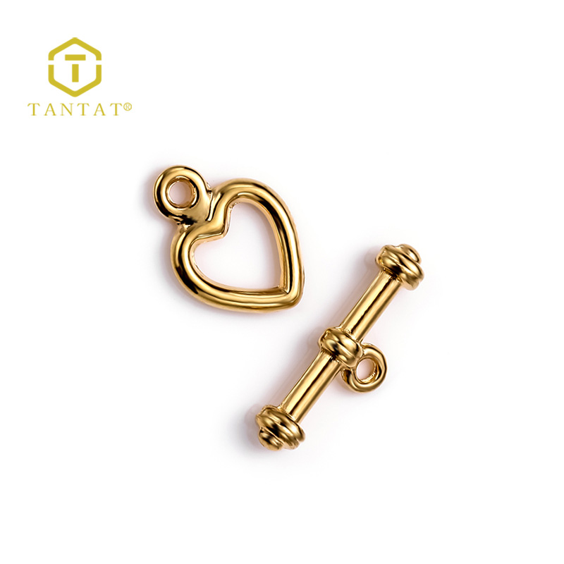 Tibetan Silver Loving Heart Toggle Clasps for Bracelet Finding