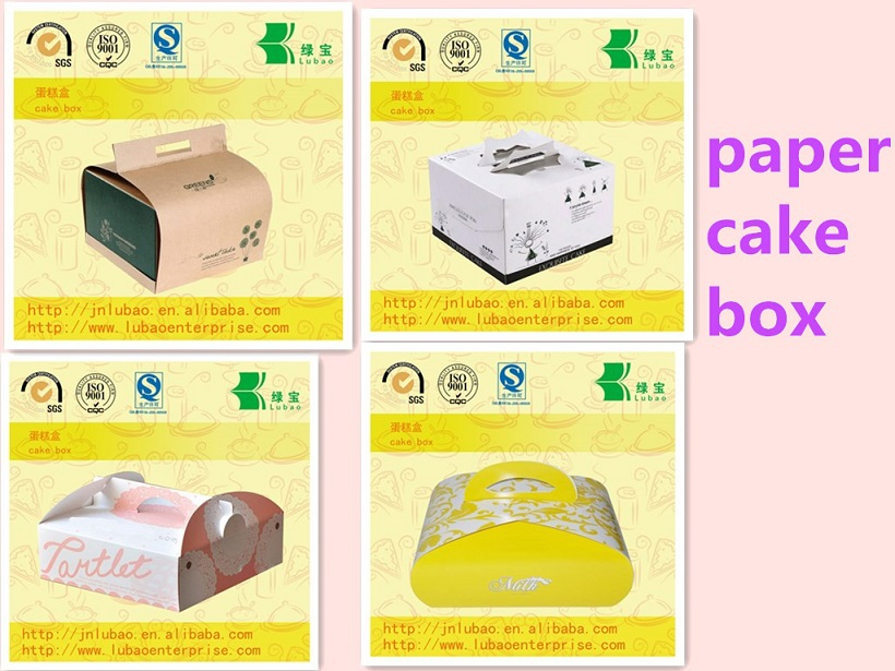 Take away custom paper cake box